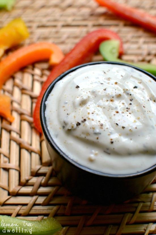 Skinny Greek Veggie Dip - a perfectly healthy summer snack!