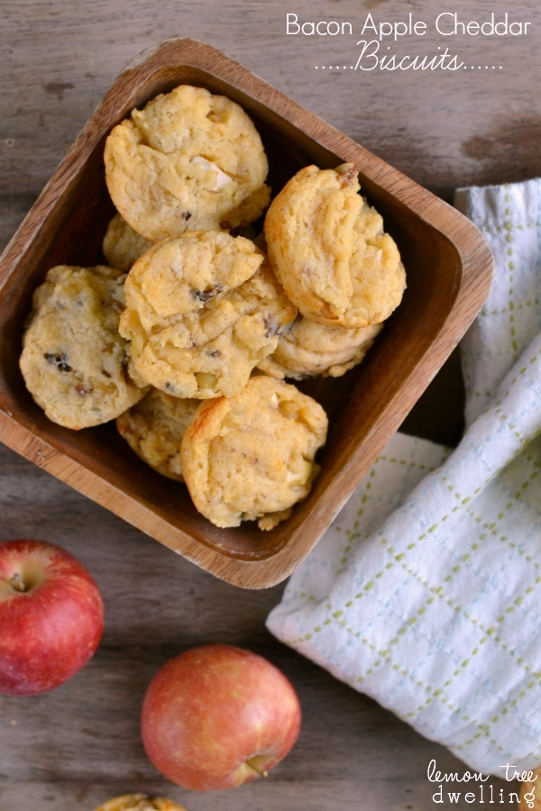Bacon Apple Cheddar Biscuits