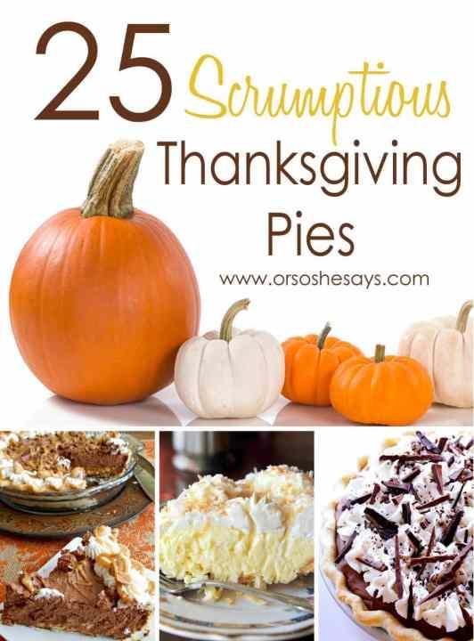 25 Thanksgiving Pies