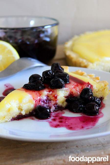 Lemon Curd Tart with Blueberry Topping