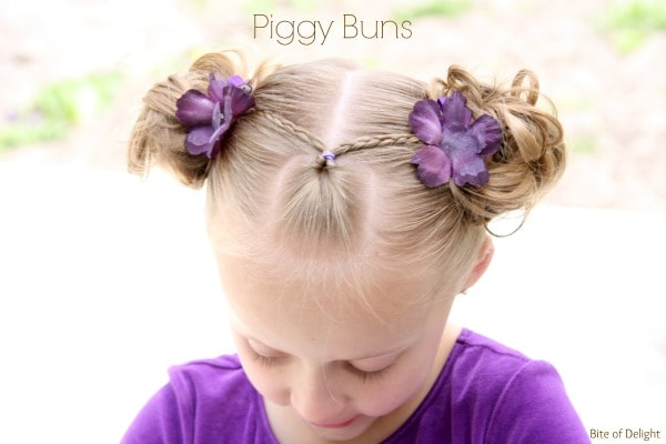 Top 5 bun hairstyles for girls bite of delight piggy buns hair tutorial little girl hairstyles pmusecretfo Gallery