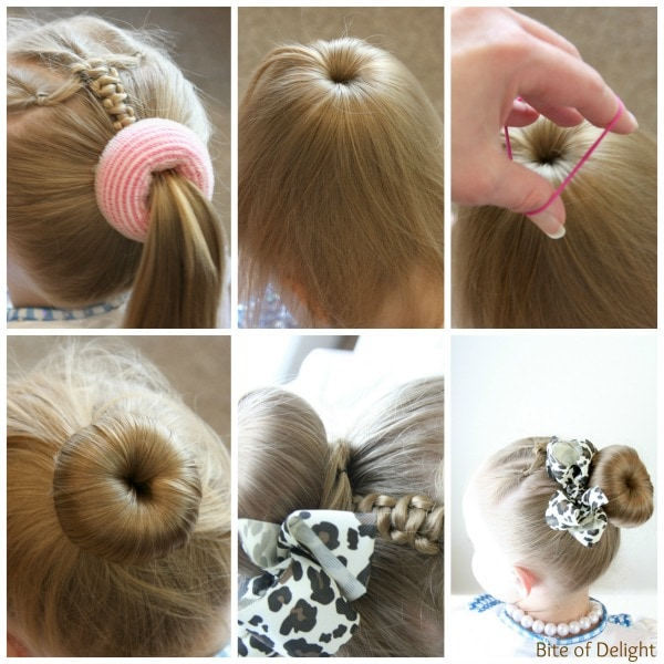 Top 5 bun hairstyles for girls bite of delight triple flip push up braid hair tutorial little girl hairstyles pmusecretfo Gallery
