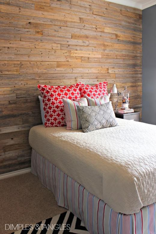 Reclaimed Wood Plank Wall