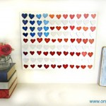 paint swatch flag decor