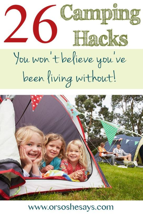 These are awesome! 26 Camping Hacks You Won't Believe You've Been Living Without!
