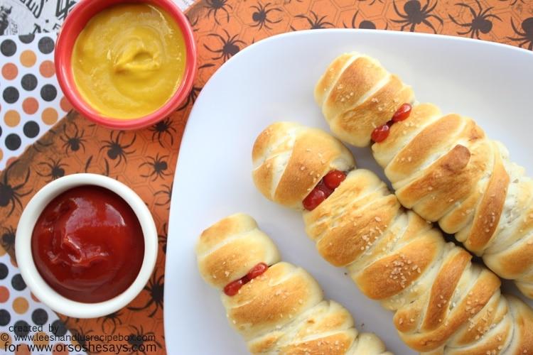Mummy Pretzel Dogs - The Perfect Halloween Dinner for Kids!