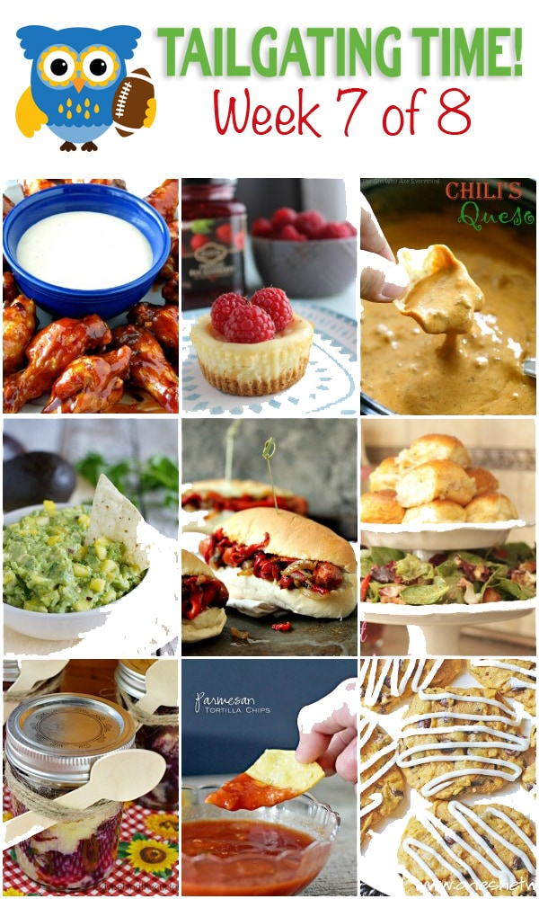 Easy  menu for a football party! FULL of delicious food ideas!