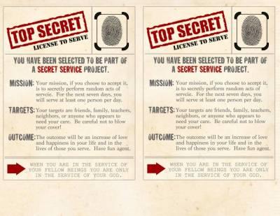 Family Night Lesson - Secret Service Mission