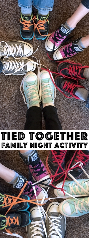 """Check out this awesome Family Night lesson, which has an activity and treat idea all mapped out for you! It's a great way to get the family to remember the importance of spending time """"tied together!"""""""