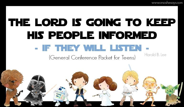 General Conference Packet for TEENS!