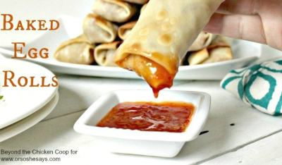 Baked egg rolls are so moist and delicious. You'll never want deep fried egg rolls again.