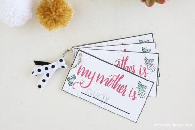 "This Mother's Day printable is a simple card that reads, ""My Mother is..."" so kids can fill in the blank. Share some kind words with mom this Mother's Day!"