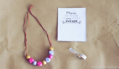 Mother's Day Necklace and Printable