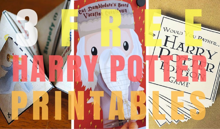 Get 3 FREE Harry Potter printables today on www.orsoshesays.com and you'll be sorted into the proper house, have a countdown to your Harry Potter vacation, and you'll have a great game to play with the whole family.