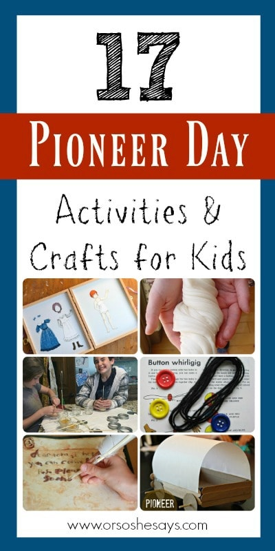 If you're looking for Pioneer Day Activities, then look no more! Mariah has created a roundup of things to do, including crafts and snacks. See all the ideas on www.orsoshesays.com today!