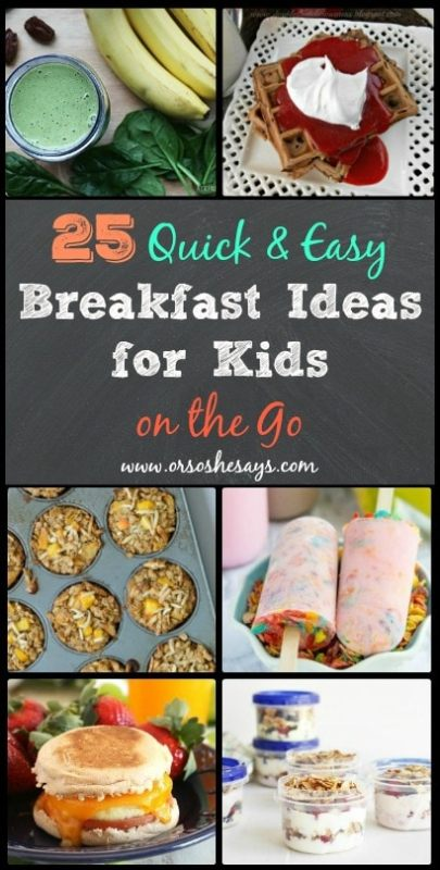 10 Easy Breakfast Recipes for KidsEnglish-Muffin Egg Pizzas. These mini breakfast pizzas will soon become a family tiucalttoppey.gq and Granola Parfait. Layering the ingredients in a pretty glass will make your kids think Prosciutto and Egg Panini. There's no need for fast-food breakfast sandwiches when you can prepare.