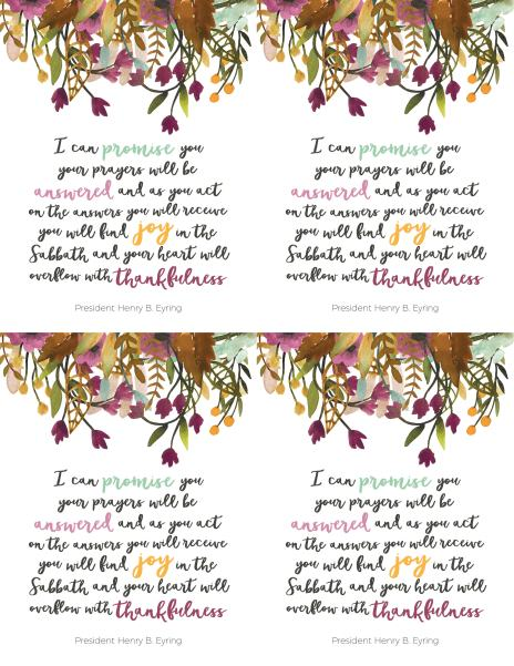 This year on 'Or so she says...' we're excited to have Jeri from the Etsy shop Picadilly Lime sharing a monthly Visiting Teaching printable that's free for your use! Today we're sharing the November 2016 Visiting Teaching message. Get it at www.orsoshesays.com.