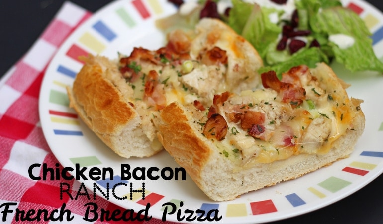 This French Bread pizza will save you at dinnertime! It comes together in a flash with only a handful of ingredients--and if you're like us, the ingredients are ones that you likely already have on hand. Get the recipe at www.orsoshesays.com.