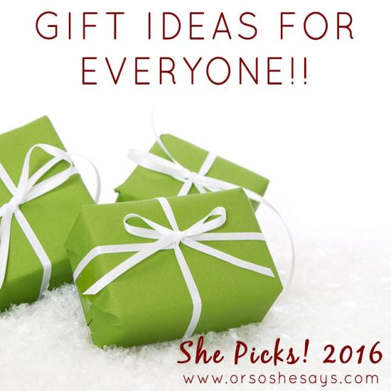Seriously the BEST gift ideas out there. She Picks! does it again!!