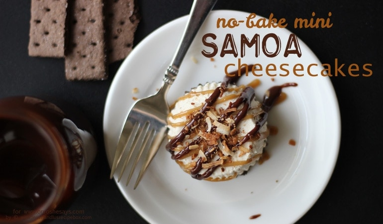 No Bake Cheesecake – Mini Samoas You Can Make Ahead! (she: Leesh & Lu)