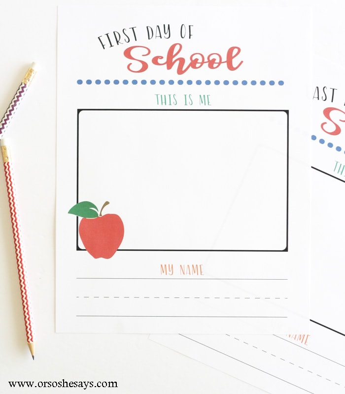 These first and last day of school writing pages will let you see how much your child's motor skills have grown during the school year.