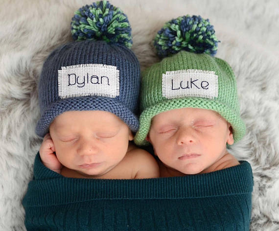 Oh, man. I'm obsessed with these little newborn beanies. Several colors to choose from! ~ Gifts for Baby Boys