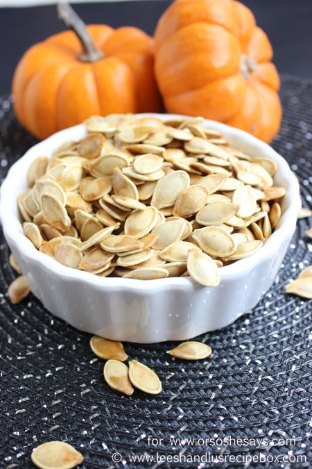 If you DREAD cleaning and roasting pumpkin seeds, then check out today's post! Leesh & Lu did some digging and found a little trick for getting the seeds perfectly flavored and roasted! www.orsoshesays.com