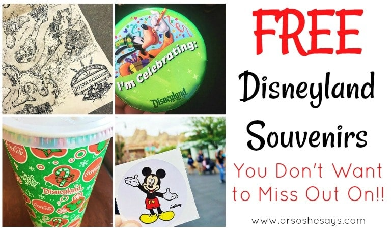10 Free Disneyland Souvenirs You Don't Want to Miss! (she: Kimberly)