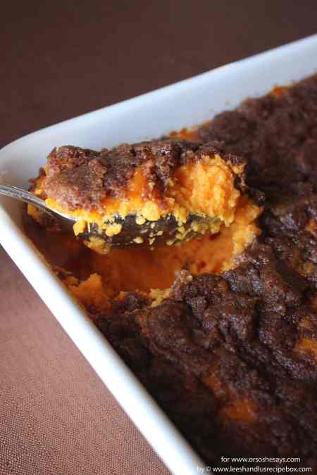 With Thanksgiving right around the corner, we are beginning to plan our menu and call dibs on the dishes we want to bring. Besides being with family, these sweet potatoes are one of the best things about Thanksgiving. Get the recipe at www.orsoshesays.com.