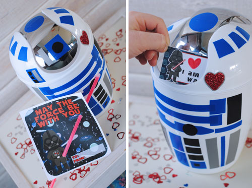 Last Minute R2 D2 Valentines Box A SUPER Easy DIY She