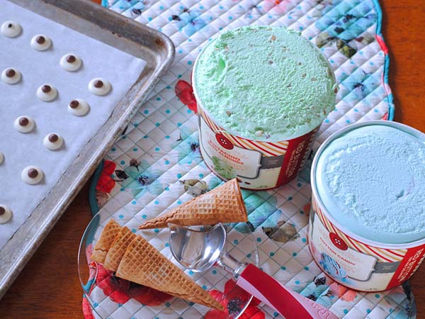 """If you love Monsters Inc. as much as I do, then this treat will make you """"scream"""" for ice cream! Keep reading to find out how to make this delicious Monsters, Inc. Ice Cream Treat for your little monsters. www.orsoshesays.com #OSSS #MonstersInc #Monsters #Disney #IceCream #Dessert #recipe #DessertRecipe #DisneyRecipe #LDSBlogger #LDS #MormonBlogger #Mormon #ontheblog #bogger #mikeandsully #sully #mikewazowski"""