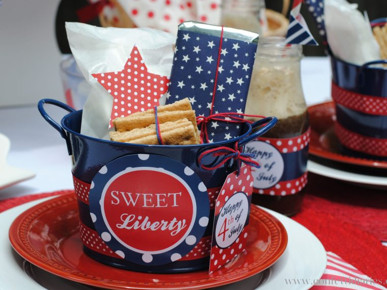 S'mores Favor Kits for Fourth of July
