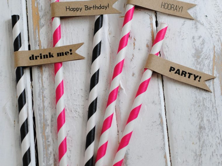 Free printable straw flags for every occasion