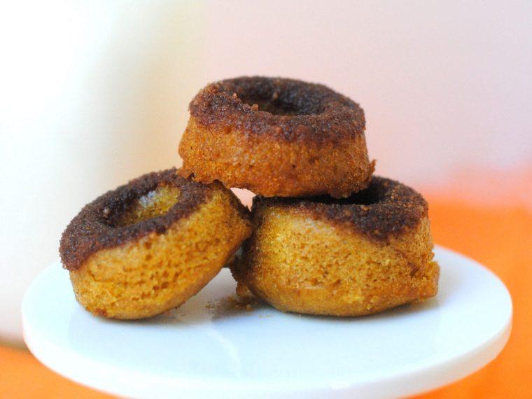 Mini baby pumpkin donuts