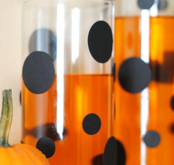 Polka dot Halloween vases