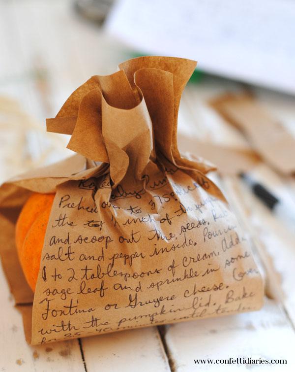 writtenrecipeonbag