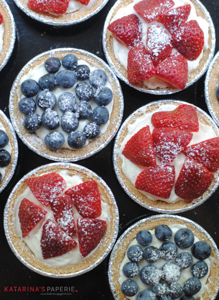 Strawberry and Blueberry Cream Cheese Tarts
