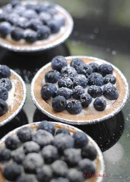 Blueberry Cream Cheese Tarts