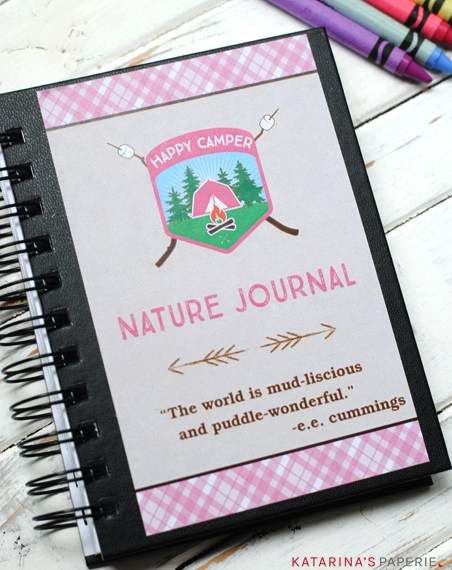 Free printable nature journal cover