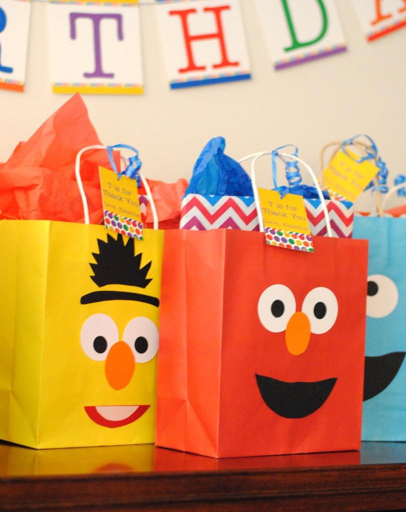 Sesame Street Favor Bag Ideas