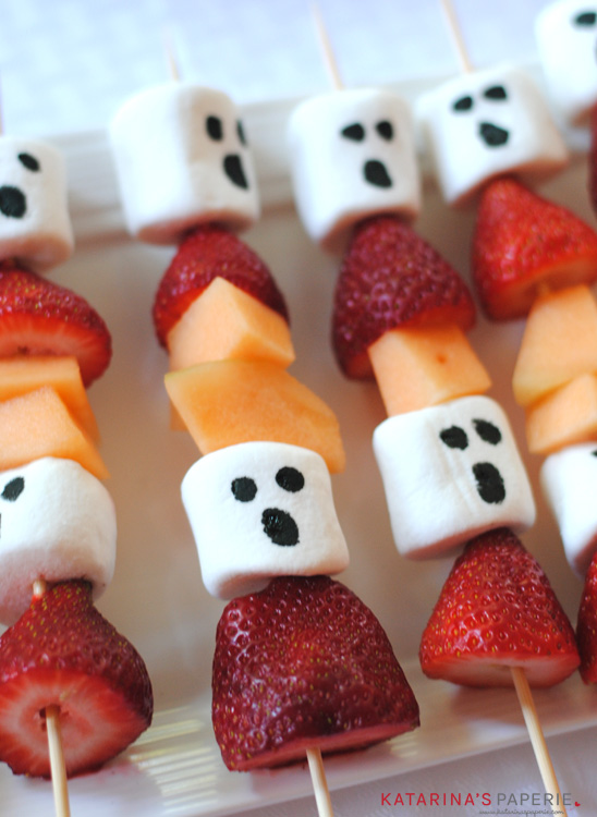 Halloween Ghost Fruit Kabobs