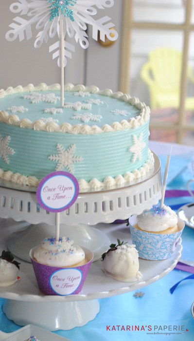 Ice princess tea party ideas
