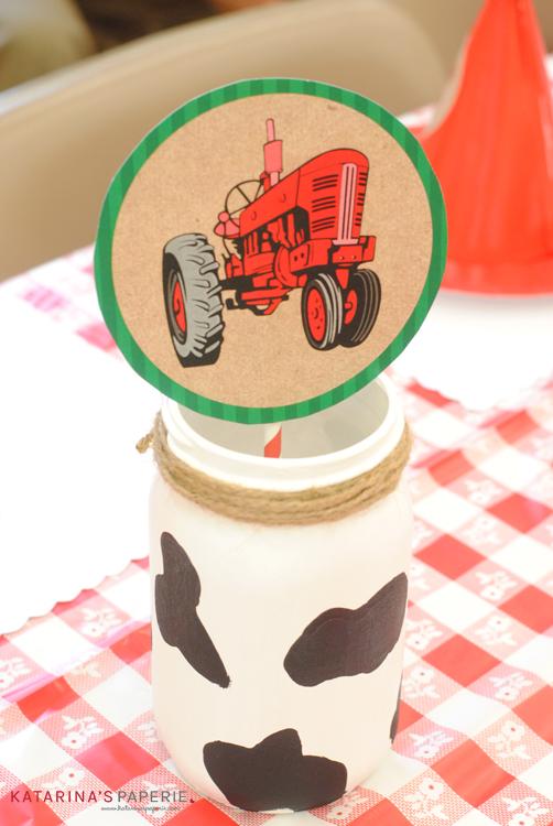 How to make cow print mason jars
