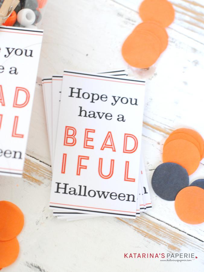 Halloween beading kit with free printable tag