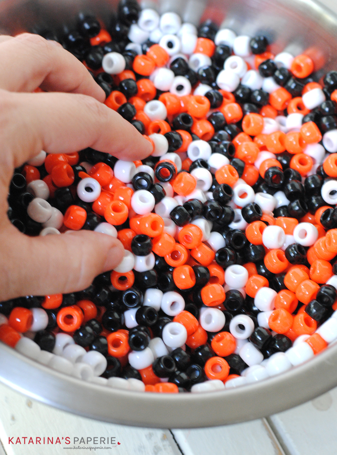 Mixing Halloween beads