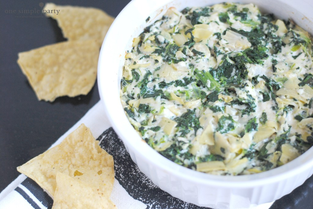 Easy Spinach Artichoke Dip One Simple Party