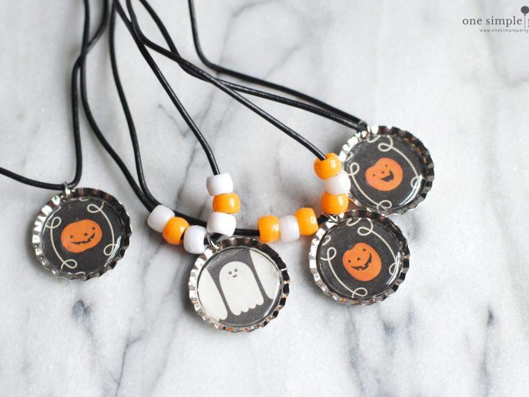 Halloween-bottlecap-necklace-craft