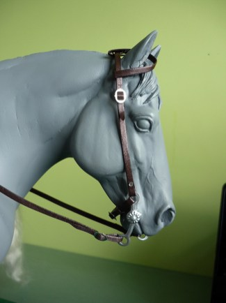 Finished 2 ear bridle using a 3D printed bit