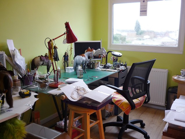 The workroom - it doesn't always rain here...