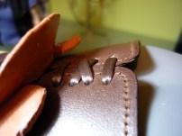 Details of dark brown saddle, something else you never see!